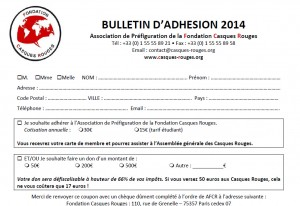 Bulletin d'adhesion 2014